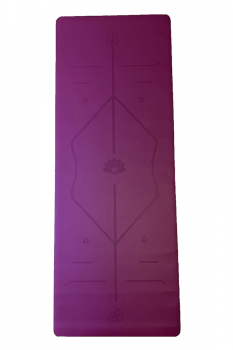 Rubber Yoga Mat Laser Line 3mm Mor
